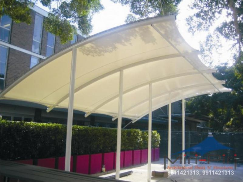 Fabric Shade Structures : Awnings canopies tensile structures cantilever