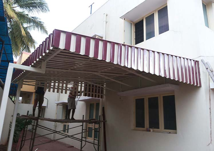 MP Aluminium Metal Canopy Awning Sun Shades Dealers Contractors
