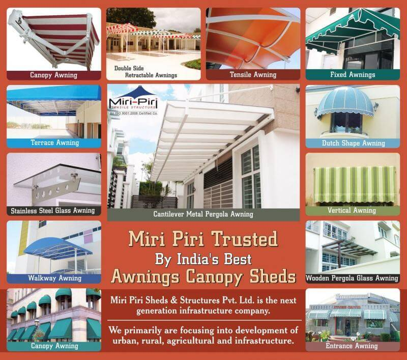 Awnings Commercial Use Manufacturers Dealers Contractors Suppliers Delhi I