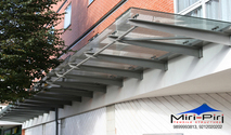 Glass Canopy Detail | Glass Canopy Fittings Stainless Steel | Glass Awning, Goa