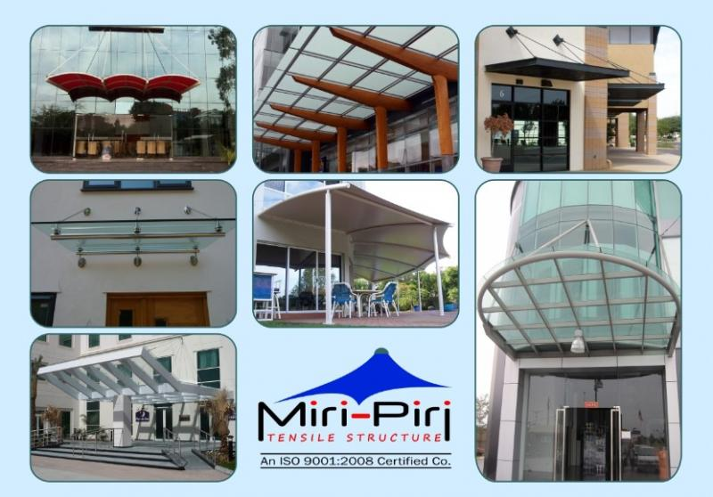 Entrance Canopy Manufacturers Delhi Glass Awnings