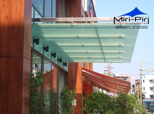 Glass Canopy Manufacturers & MP - Delhi - Glass Canopy Designs Glass Awning Residential Glass ...