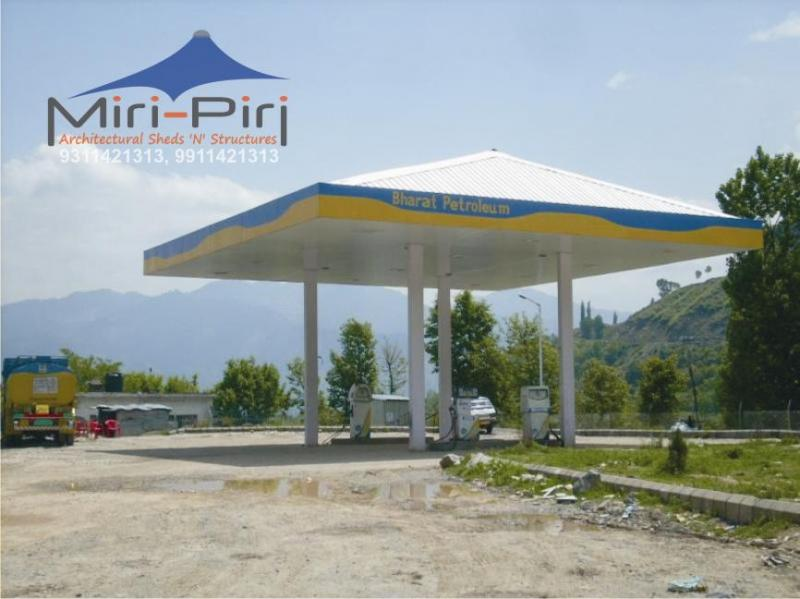 Petrol Pump Canopy - Manufacturer Contractors Suppliers Fabricators Delhi & MP - Petrol Pump Canopy Fabrication Petrol Pump Canopy ...