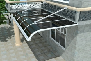 Polycarbonate Awnings, Polycarbonate Canopy, Cantilever Awnings
