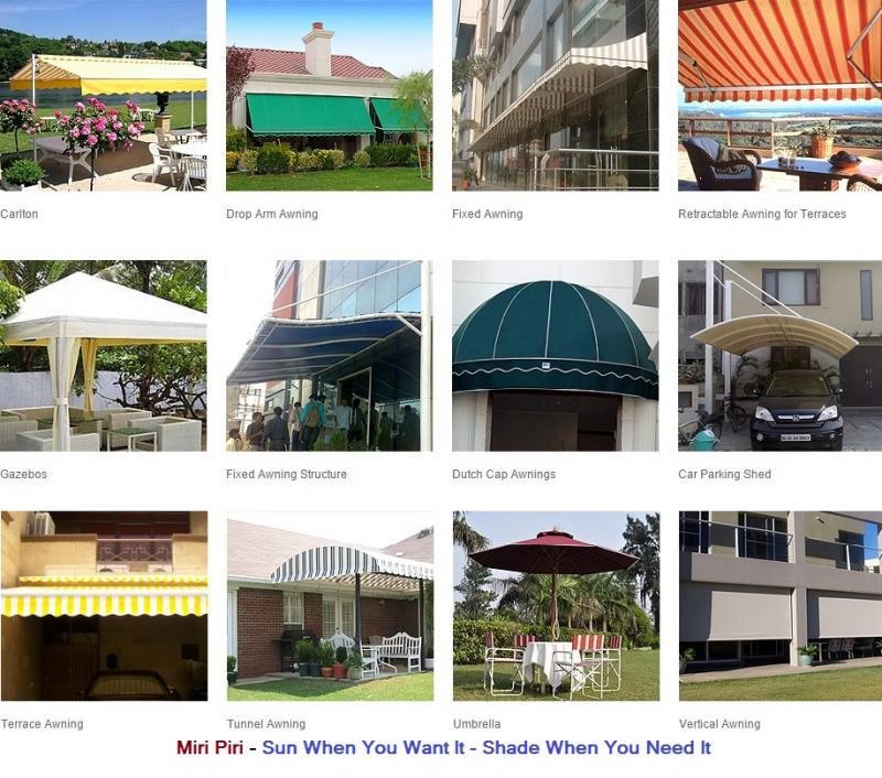 Retractable Awning  Manufacturers, Dealers, Contractors, Suppliers, Delhi,  India