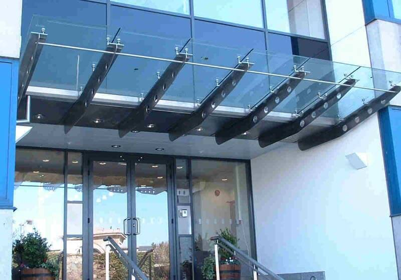 Commercial Door Canopy Glass And Metal